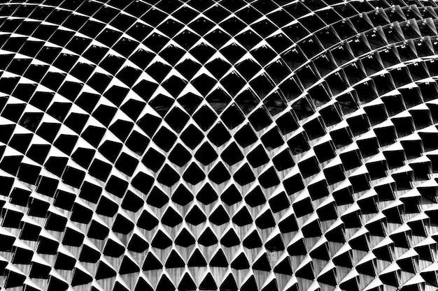 A arquitetura moderna é composta de estrutura de aço. fundo abstrato da textura.