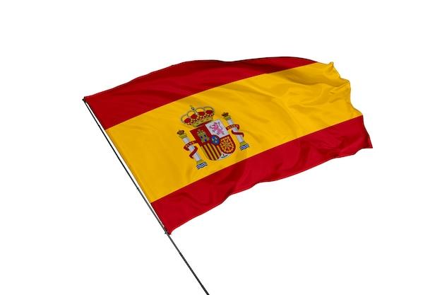 A bandeira da espanha em um fundo branco