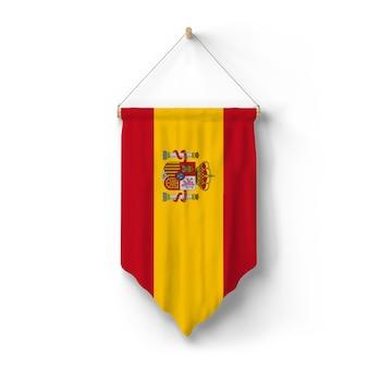 A bandeira da espanha está pendurada na parede