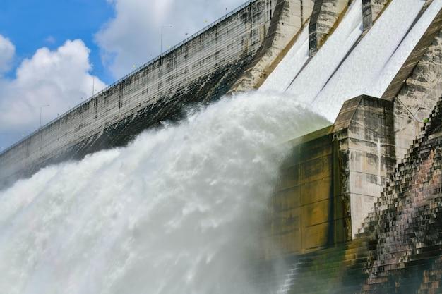 A barragem khun dan prakarn chon é uma barragem com usina hidrelétrica e irrigação e proteção contra enchentes no distrito da província de mueang nakhon nayok, tailândia