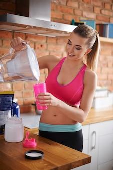 A bebida proteica é a base da minha nutrição
