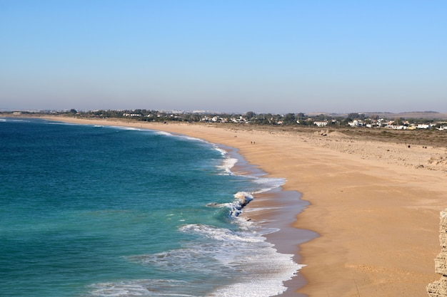 À beira-mar em um dia de verão