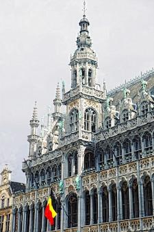 A bela catedral gótica de são miguel e são gúdula, bélgica, bruxelas, europa.