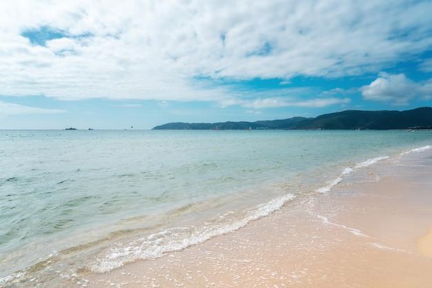 A bela costa de sanya, china