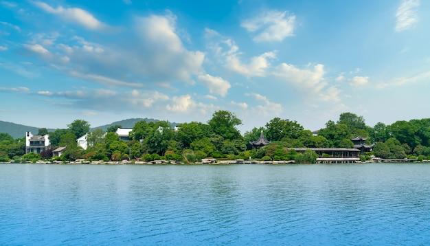A bela paisagem do lago yulong em xuzhou