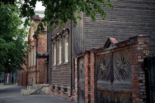 A bela rua velha da cidade