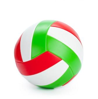 A bola de vôlei em um fundo branco