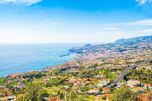 A capital da ilha da madeira - cidade do funchal, portugal.