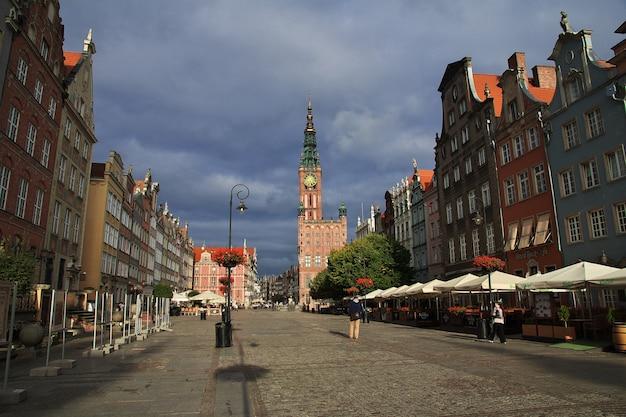 A cidade de gdansk no norte da polônia