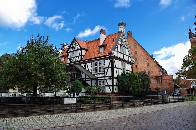 A cidade de gdansk, no norte da polônia