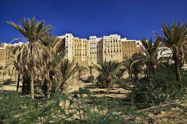 A cidade dos arranha-céus medievais, shibam, wadi hadramaut, iêmen