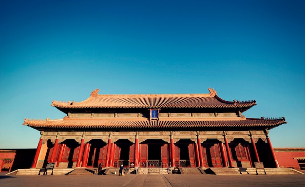 A cidade proibida majestosa em beijing china.