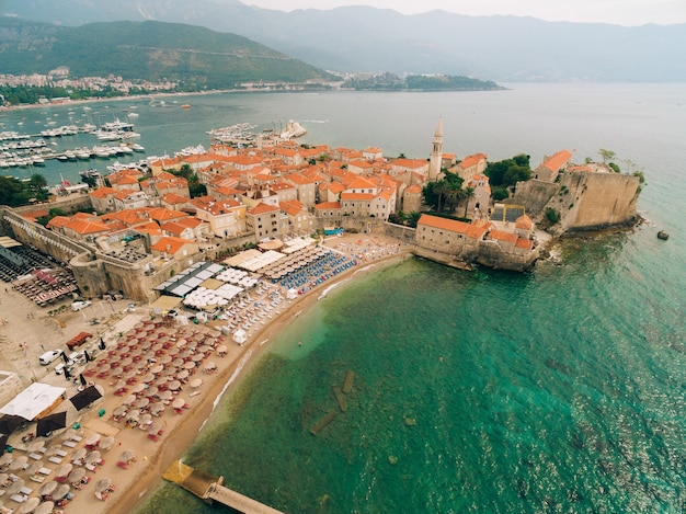 A cidade velha de budva montenegro