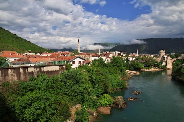 A cidade velha mostar, bósnia e herzegovina