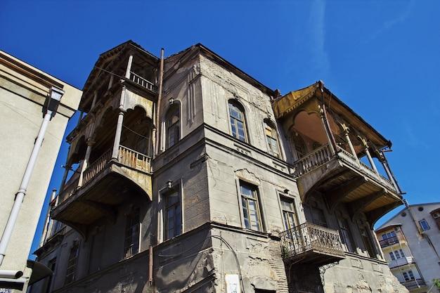 A cidade velha na cidade de tbilisi, geórgia