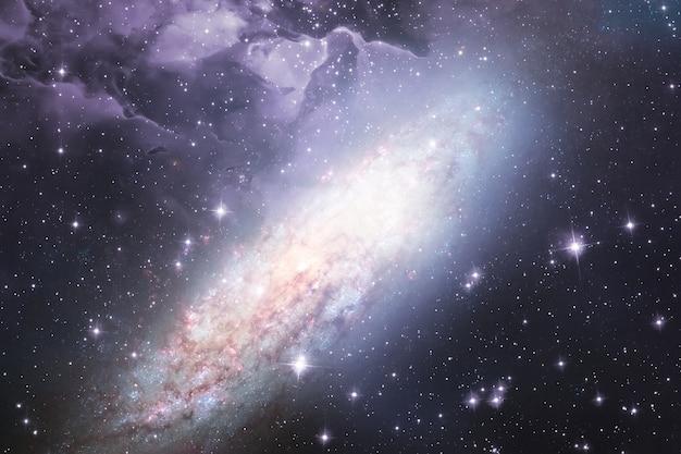 A ciência abstrata fundo da galáxia do espaço sideral, estrelas do universo.