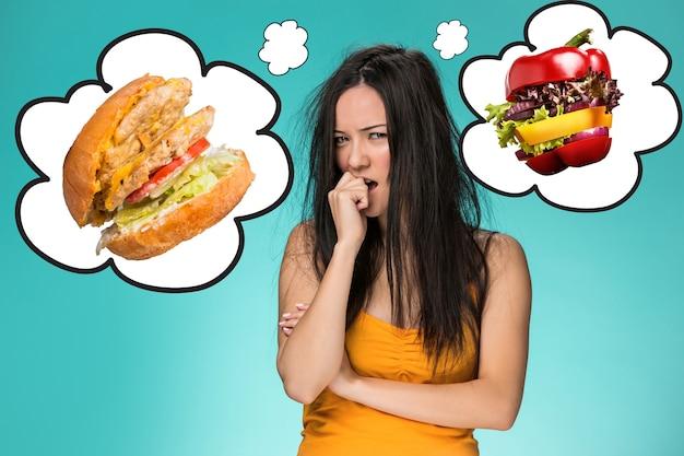 A colagem sobre o conceito de saúde, dieta e alimentação