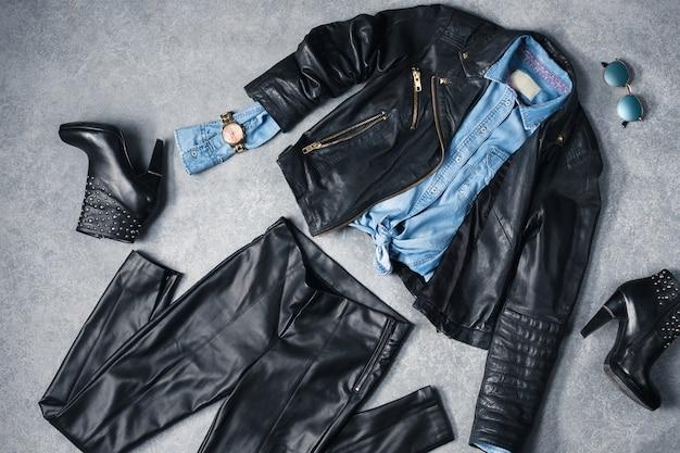 A coleção de roupas elegantes