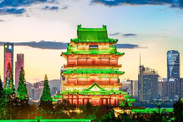 A combinação de arquitetura urbana e arquitetura antiga em nanchang
