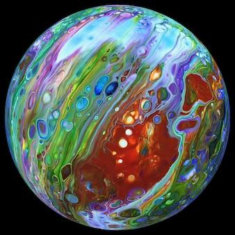 A cor abstrata borrou o planeta no espaço, outros mundos, um planeta fantástico em outra galáxia