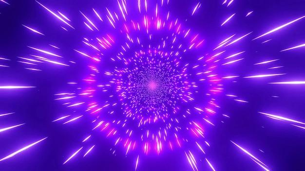 A cor rosa vermelha mudando 4k uhd espaço galáxia wormhole ilustração 3d