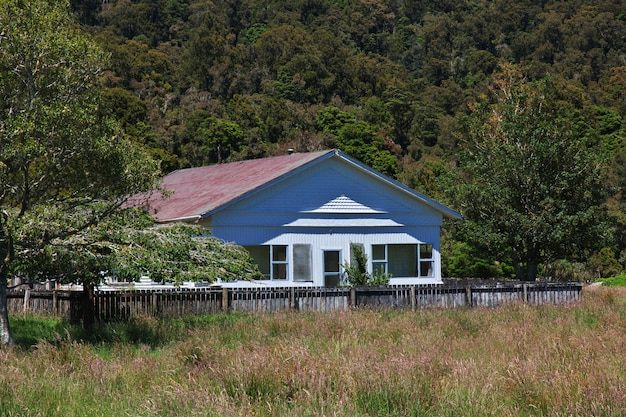 A costa oeste na ilha sul, nova zelândia
