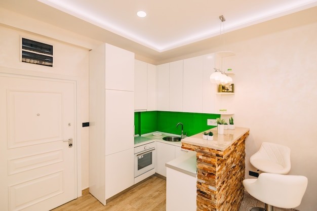 A cozinha do apartamento o desenho da cozinha sala wo