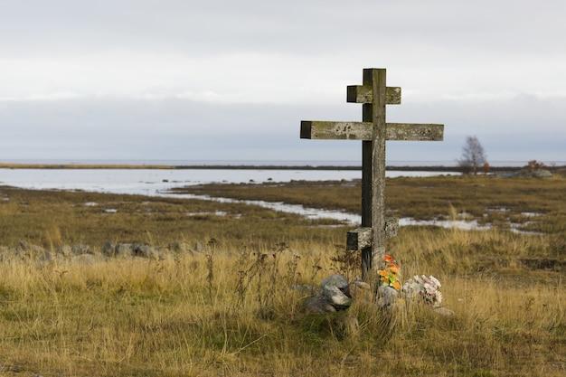 A cruz de madeira
