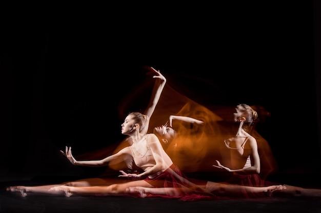 A dança sensual e emocional da bela bailarina