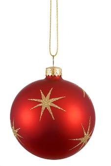 A esfera da árvore de natal vermelho