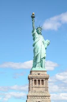 A estátua da liberdade em nova york, eua