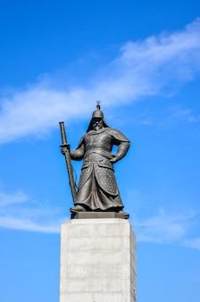 A, estátua, de, yi sun-shin, exterior, de, gyeongbokgung, palácio