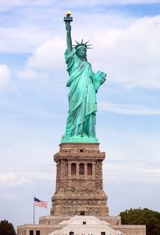 A, estátua liberdade, em, cidade nova iorque