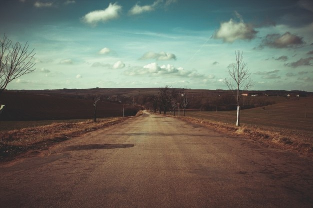 A estrada após o inverno