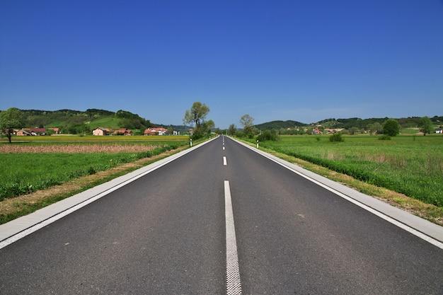 A estrada em zagorje, croácia