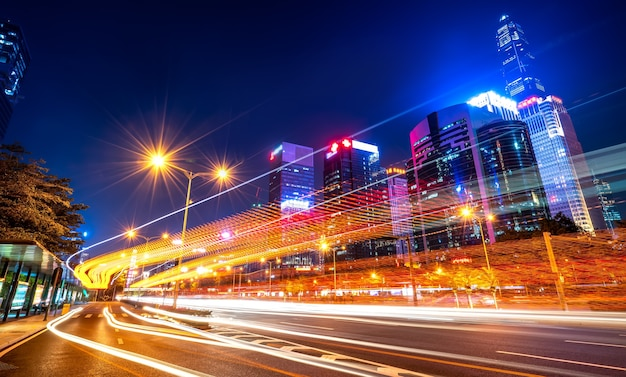 A estrada na cidade de shenzhen, china