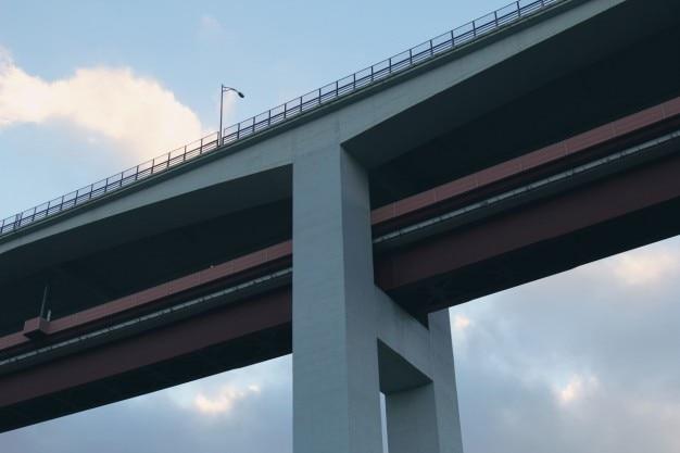 A estrutura da ponte
