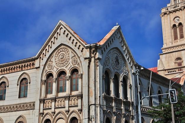 A fachada da igreja na costa do pacífico de valparaíso