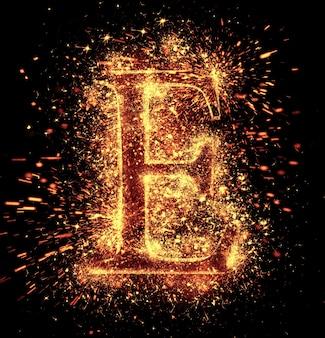 A faísca do alfabeto está isolada no preto