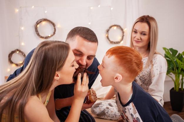 A família está lutando por guloseimas
