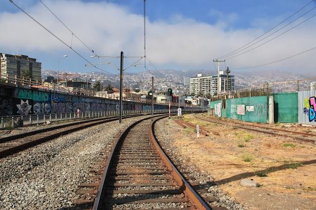 A ferrovia em valparaíso do chile