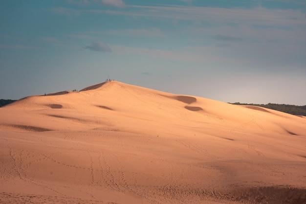 A grande duna de pilat, a duna mais alta da europa em arcachon, aquitanie, frança.