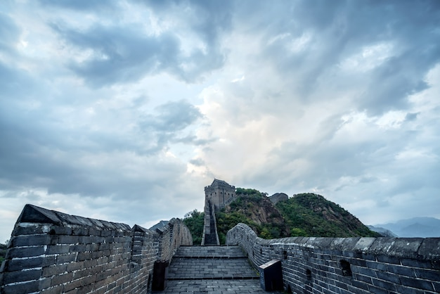 A grande muralha da china.