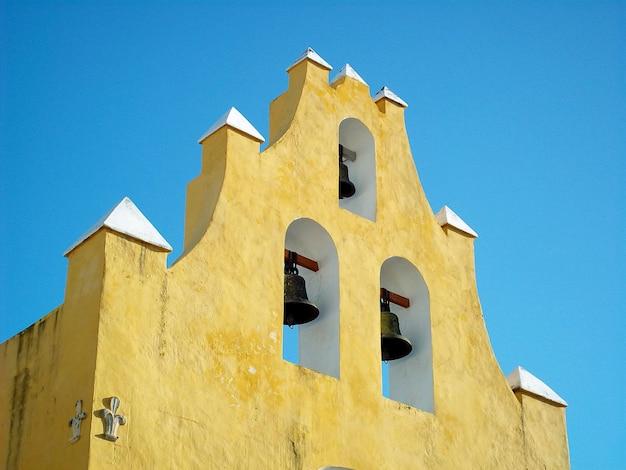 A igreja antiga em campeche, yucatan, méxico