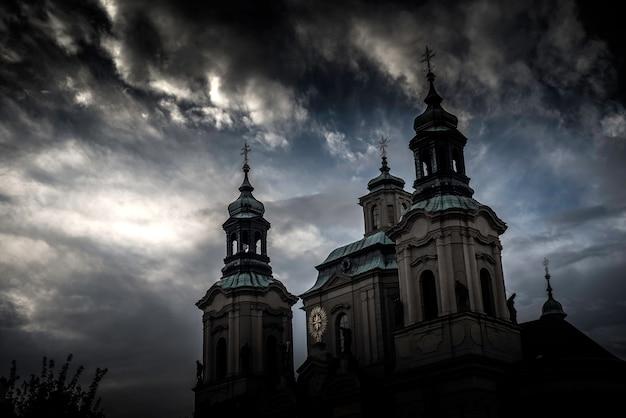 A igreja de são nicolau. praga, república tcheca