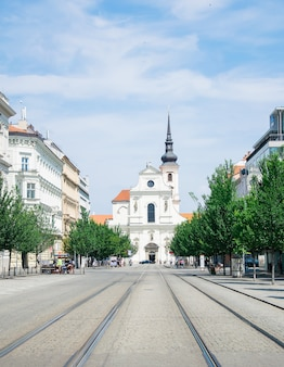 A igreja de st thomas brno, república tcheca