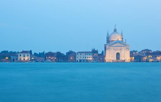 A igreja do santíssimo redentor em veneza