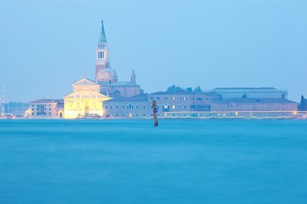 A igreja do santíssimo redentor na paisagem de veneza