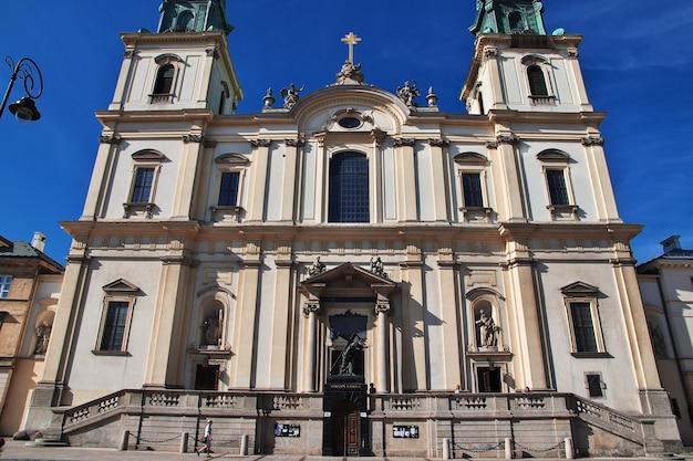 A igreja em varsóvia, polônia