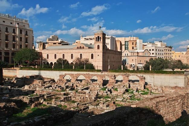 A igreja na cidade de beirute, líbano